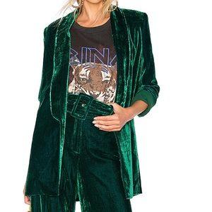 House Of Harlow 1960 xRevolve Green Velvet Jacket